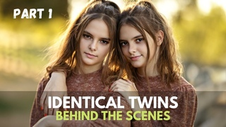 Photoshoot with Identical Twin Girls, Natural Light Twins Photography | Canon EOS R5 + RF 85mm
