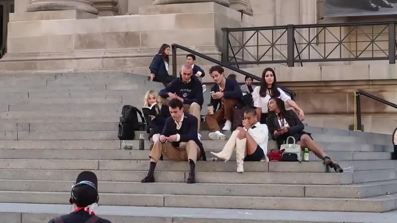 Съёмки сериала Сплетниц 10 ноября 2020 года