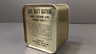 1940-1945 AAF Life Raft Ration MRE US Military Food Review Army Air Force Charms Candy Americana