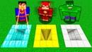 КАКУЮ ЯМУ ВЫБЕРЕТ СУПЕРГЕРОЙ В МАЙНКРАФТ Нубик против Супермен, Флеш и Халк в Minecraft