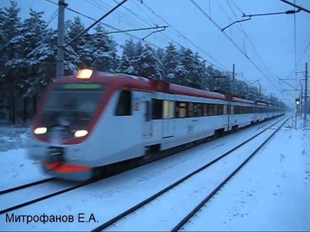 Электропоезд ЭД4МКМ-0155 (ТЧ-4), межобл. поезд №7047 Экспресс Владимир - Москва.