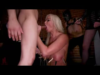 Big-Titted Anal Slave Rewarded & Fisted For Training Teen Submissive