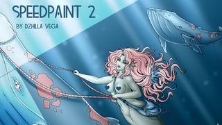Speedpaint#2 | Whale rider | by Dzhilla Vega