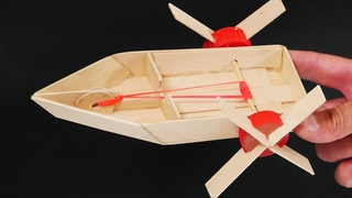 Make an Elastic Band Paddle boat