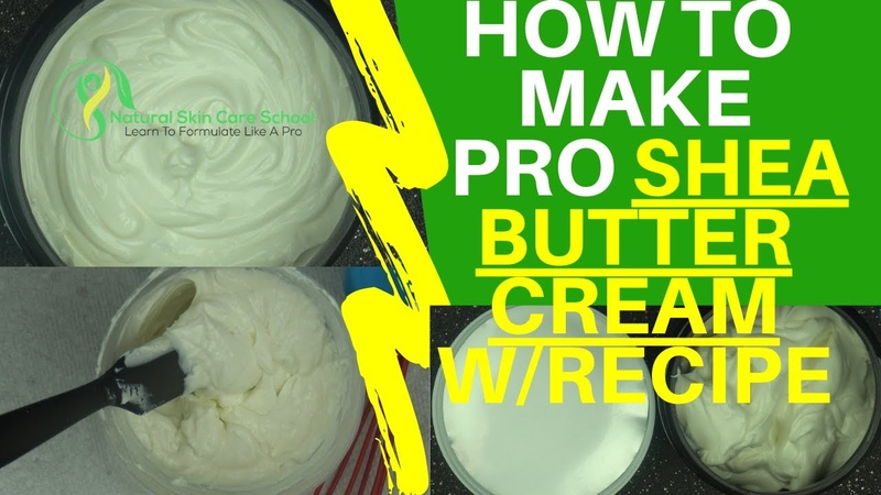 How To Make Non Greasy Emulsified Body Butter With Shea Butter And Natural Emulsifiers (Recipe)