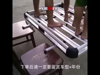 Универсальный алюминиевый багажник на крышу, выдерживает нагрузку более 100 кг