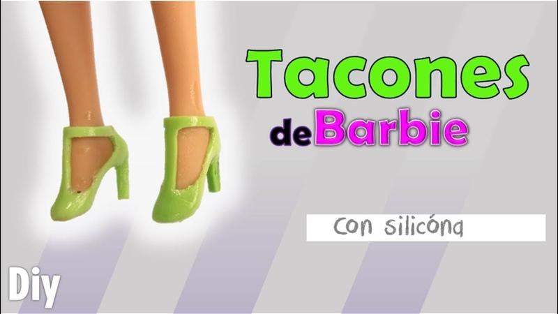 COMO HACER TACONES PARA BARBIE DE SILICONA✴️how to make shoes barbies