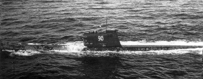 Подводная лодка Б-130, обнаруженная ВМФ США (октябрь 1962 года)