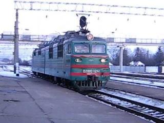 Гребенка (Украина).Смена локомотива ВЛ80Т-1241