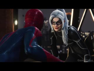 The Amazing Spider-Man Cheating On MJ With Black Cat Scene 4K ULTRA HD - Spider-Man Remastered PS5