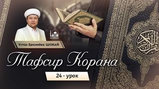 "Тафсир Корана | 24 урок: Сура ""Аль-Бакара"": 36 аят | Устаз Еркинбек Шокай"