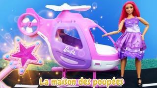 La magie de la fée et Barbie qui se prépare pour la soirée! Vidéo avec les poupées pour les filles.