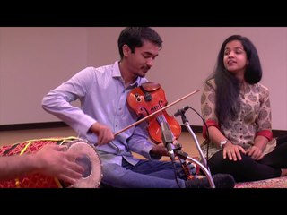 """Tillana"" - Ambi Submaraniam (violn), Bindu Submaraniam (voice), Mahesh Krishnamurthy (mridangam)"