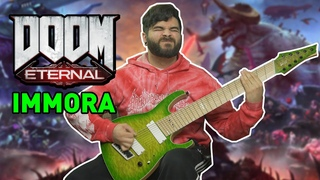 IMMORA // 9 STRING GUITAR COVER (Doom Eternal - The Ancient Gods Part 2 OST) David Levy