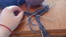 мк. вяжем спицами мужские носки 42 размераЧАСТЬ 1