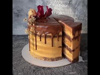 Шоколадно-медовый торт с орехами 3 ч. / Наша группа во ВКонтакте: ТОРТ-РЕЦЕПТ-VК.
