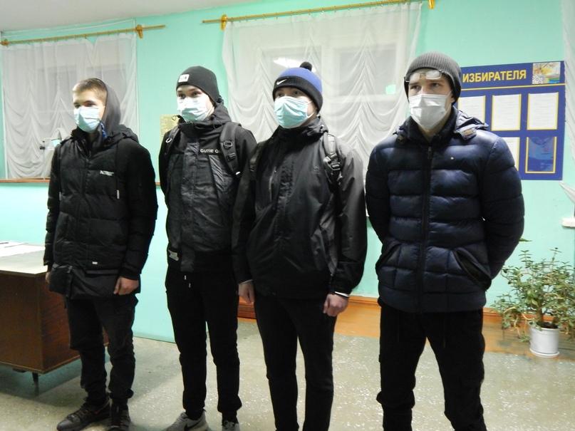 Новобранцы - 2020. Слева направо: И.Руссков, А.Яндубаев, М.Ушаков, Е.Рыков.