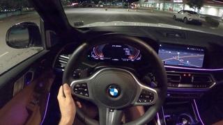 2020 BMW X7 M50i - Night POV Test Drive by Tedward (Binaural Audio)