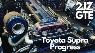 Toyota Supra 2JZGTE Rebuild 2020 Progress at Dynodaze