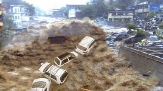 Fury of Nature hit Italy !! Devastating flash flood in Cernobbio !