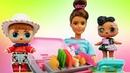 Видео про Барби и кукол ЛОЛ ОМГ СВЕГ Сюрприз! Игры в одевалки в магазине. Игры в готовку еды!