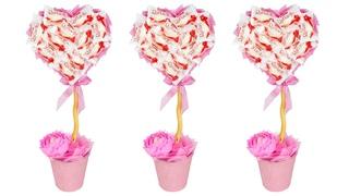 Топиарий из конфет на День Всех Влюбленных. Мастер-класс