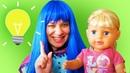 Видео с куклой БЕБИ БОН – Как разбудить Принцессу Диснея – Смешные видео игры одевалки для девочек