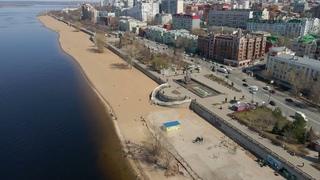 Самарцы открыли пляжный сезон на городской набережной в середине апреля
