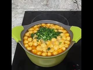 Куриный суп с сырными шариками