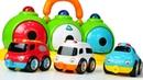 Видео про игрушечные МАШИНКИ для малышей! Клоун Гоша осваивает гараж спецслужб!