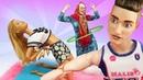 Видео про игры в куклы. Кукла Барби и Баба Маня устроили спортзал! Что лучше - йога или огород