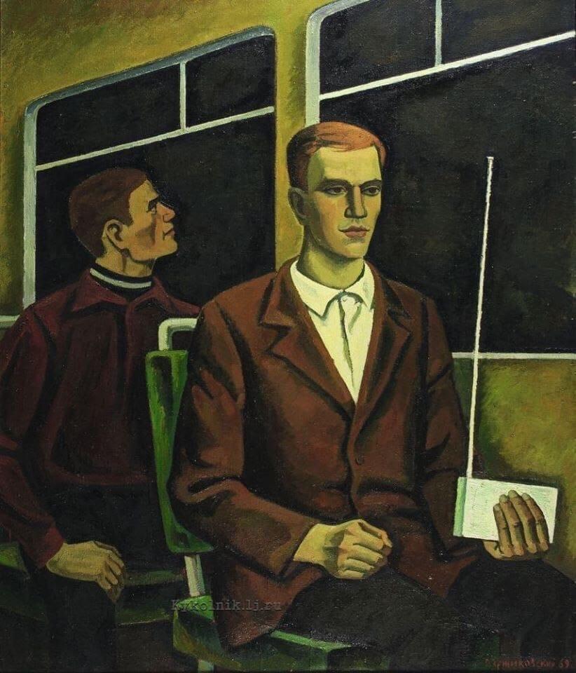 Ержиковский О. С., «Человек с приёмником» 1969