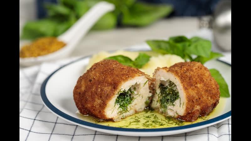 Котлета по киевски вкусный рецепт Chicken Kiev recipe 👍