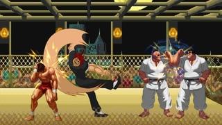 Yujiro and Baki VS. Orochi Doppo and Orochi Katsumi