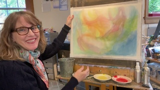 HOW TO LIFT OFF WATERCOLOR VEIL PAINTS