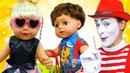 Видео про игрушки пупсы куклы Беби Бон Сестричка и Братик в салоне красоты и игры с клоуном!