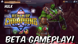 Realm of Champions Beta Gameplay FIRST LOOK! - 3v3 PVP Arena Brawler - Marvel Realm of Champions F2P