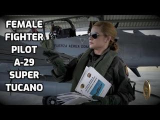 Amazing Female Fighter Pilot Of A-29 Super Tucano