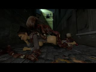 Alyx Vance x Zombie - vaginal fucked; 3D sex porno hentai; [Half-Life 2]
