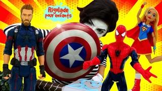 Compilation de vidéos drôles avec la mime, les super-héros et Barbie.