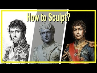 How to sculpt a bust with Epoxy and Polymer clay. (1/10 Marshal Soult)