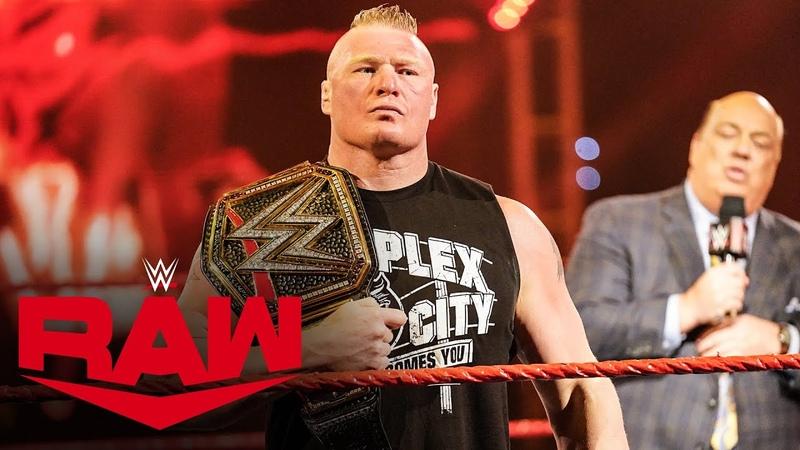 My1 Paul Heyman's WrestleMania prediction for Brock Lesnar Raw March 30 2020