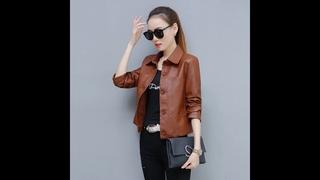 Женская короткая куртка из искусственной кожи, новинка осени 2020, корейская свободная универсальная мотоциклетная кожаная