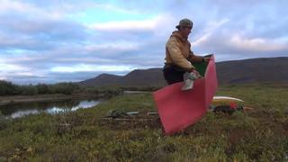 Одна через Чукотку.  Часть 13.  По реке под горой Медвежьей. Alone through Chukotka. Part 13