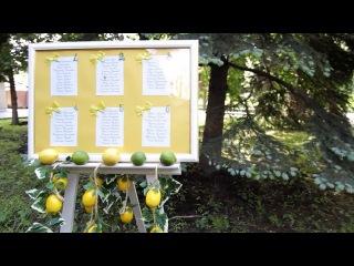 Лимонно лаймовый микс Оформление свадьбы