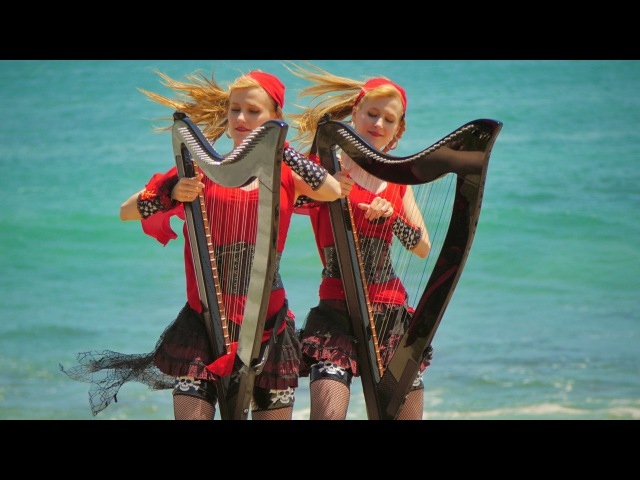 PIRATES of the CARIBBEAN Medley Harp Twins Camille and Kennerly