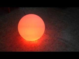 Световая LED мебель - Шар, обзор (функционал, свойства)