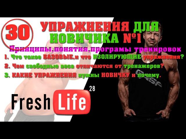 30 базовые упражнения в зале