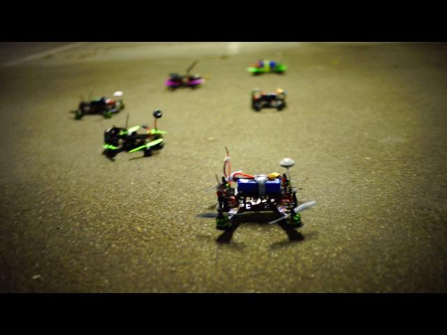 Indoor garage drone racing with SQG R220 vs Blackout vs Inimini vs MPX vs ZMR pod racing