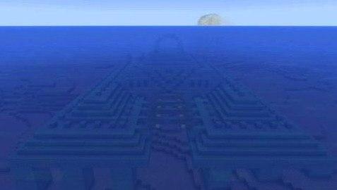 сиды майнкрафт подводная крепость #10